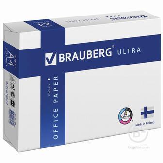 Бумага офисная BRAUBERG ULTRA FINLAND, А4, 80 г/м2, 500 л., марка C, ФИНЛЯНДИЯ, белизна 150% CIE