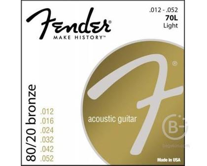 FENDER STRINGS NEW ACOUSTIC 70L 80/20 BRNZ BALL END 12-52 - Струны для акустической гитары, бронза
