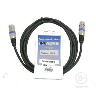 INVOTONE ACM1106/BK - Микрофонный кабель,  XLR(папа) <-> XLR(мама)