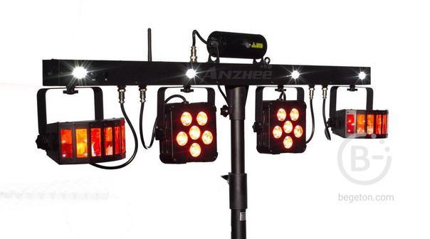 PROCBET PARTYBAR PRO - Мобильный комплект светового оборудования PROCBET PARTYBAR PRO. Мобильный ком