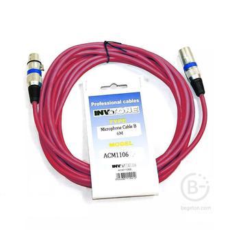 INVOTONE ACM1106/R - Микрофонный кабель, XLR(папа) <-> XLR(мама)