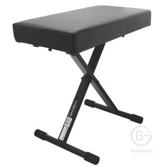 ONSTAGE KT7800+ - Скамейка, три позиции, толщина сиденья 75мм, усиленная, черный винил