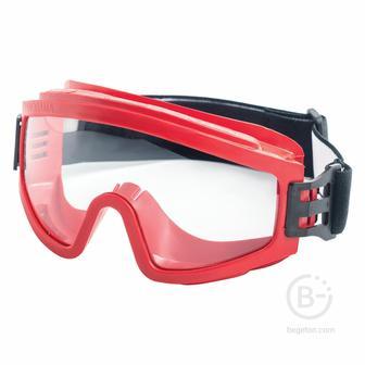 Очки защитные закрытые РОСОМЗ ЗН11 Super Panorama, прозрачные, непрямая вентиляция, незапотевающее покрытие, ацетат целлюлозы