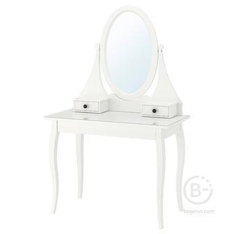 ХЕМНЭС Туалетный столик с зркл, белый100x50 см