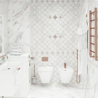 Плитка для ванной Коллекция Calacatta Gold