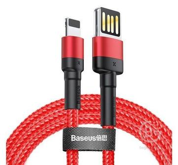 Кабель Baseus Cafule Cable USB For iP 2.4A 2M (Red+Black)