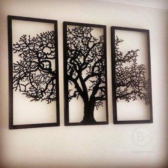 Декор на стену в виде веток дерева