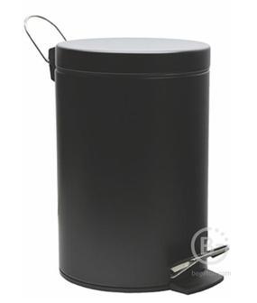 Ведро WasserKRAFT K-635 Black 5 л нержавеющая сталь, ABS - пластик