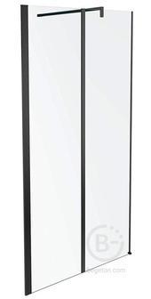 Дверь Jacob Delafon SERENITY E14W120-BLV реверсивная, 6 мм, затемненное серое стекло, профиль черный /120х190/