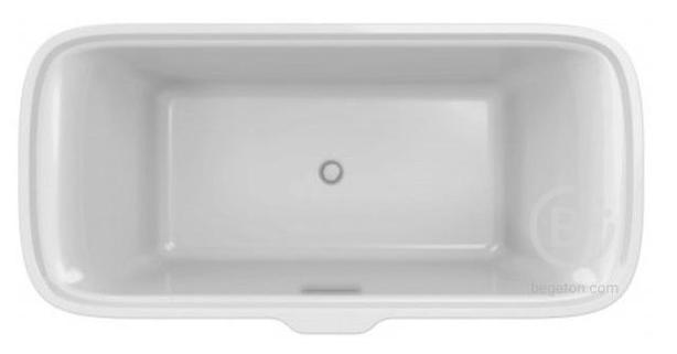 Ванна Jacob Delafon ELITE E6D034-00 из мат. Flight, слив-перелив в комплекте /180 x 85/ (белый)