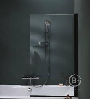 Шторка Jacob Delafon STRUKTURA E6D042-BLV для ванны 140*80 (чёрный)