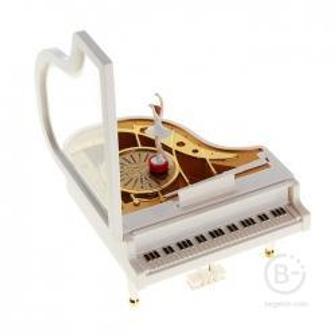 Шкатулка музыкальная - Белый рояль