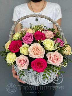 Цветы в корзине Признание
