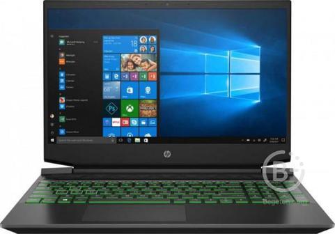 "22N70EA Ноутбук HP Pavilion Gaming 15-ec1061ur Black green 15.6"""