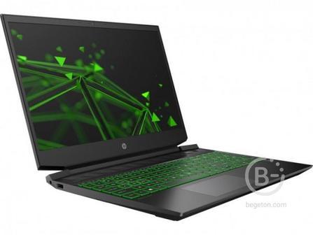 "22N76EA Ноутбук HP Pavilion Gaming 15-ec1064ur Black green 15.6"""