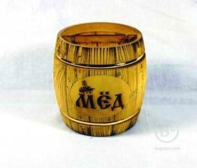 """Купить Бочонок """"Пчеловод"""" темный, 0.5 кг"""