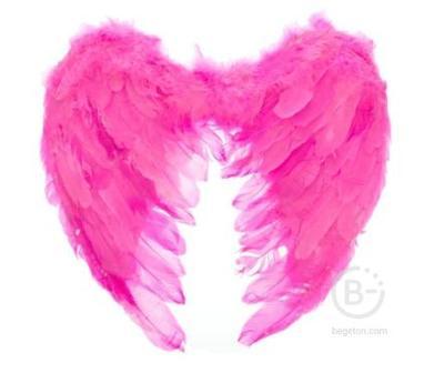 крылья ангела 40*40 розовые 322175