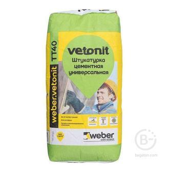 WWeber.vetonit TT40 штукатурка цементная универсальная влагостойкая 25кг