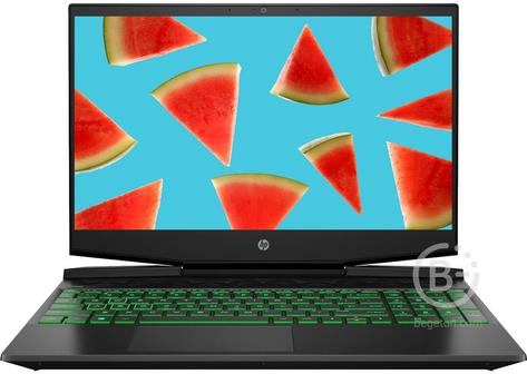 "22N31EA Ноутбук HP Pavilion Gaming 15-dk0141ur Black/green 15.6"""