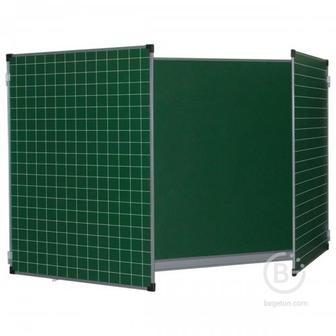 Разлинованная трехэлементная магнитно-меловая доска BoardSYS 75х100/200 см