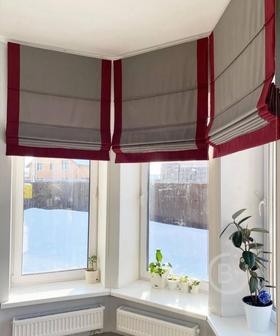 Текстильное оформление окон в гостиной