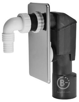 Сифон для стиральной машины под штукатурку хромированный Alcaplast APS3