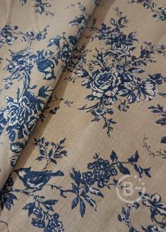 Льняные ткани набивные и крашенные