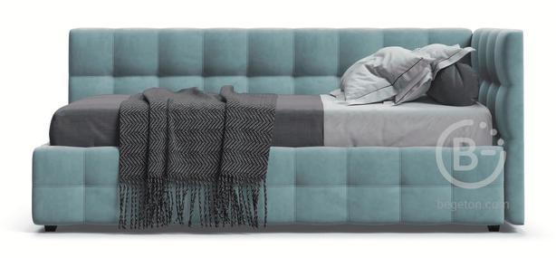 Кровать BOSS mini велюр Monolit аква