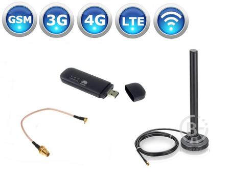 Комплект 4G Huawei E8372 + 2шт. автомобильные антенны KROKS KC6