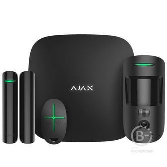 StarterKit Cam - Стартовый комплект системы безопасности с фотоверификацией тревог Ajax (черный)