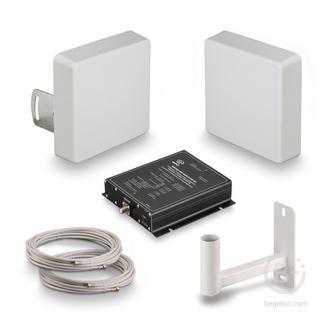 KRD-1800/2100 - Комплект усиления KROKS сигналов сотовой связи 2G GSM1800, 3G UMTS и 4G LTE1800 (60 dBi)