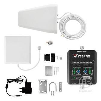Vegatel Vt-900e/3g-kit (дом, Led) Репитер усилитель 3g (2100) gsm (900) сигнала (комплект)