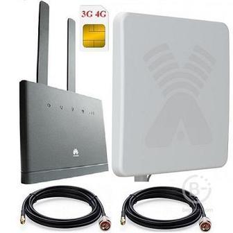 Huawei B315s-22 4g 3g роутер с внешней антенной Mimo с усилением 20дби (комплект)