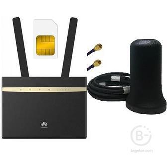 Huawei B525s-23a с антенной ShopCarry M2 4g 3g Lte Gsm Wifi роутер до 300 Мбит.с
