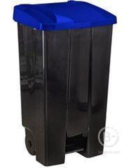 Бак 110л Синий с педалью на колесах (1)