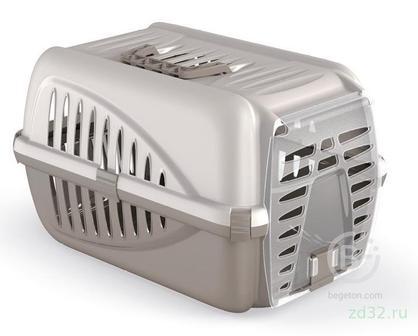 GEORPLAST PANZER переноска для кошек и собак 50*33*31см с пластиковой дверцей