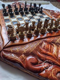 Продам нарды-шахматы ручной работы.