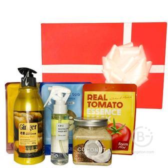 Подарочный набор косметики для волос и тела Asmetika Ginger & Tomato