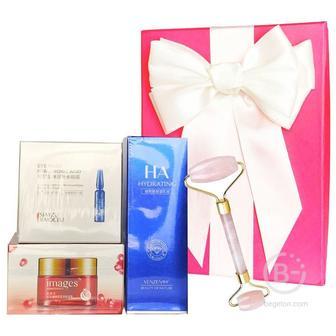 Подарочный набор косметики для лица Asmetika Pomegranate & Pink