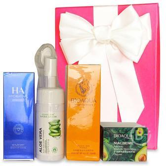 Подарочный набор косметики для лица Asmetika Aloe& blue