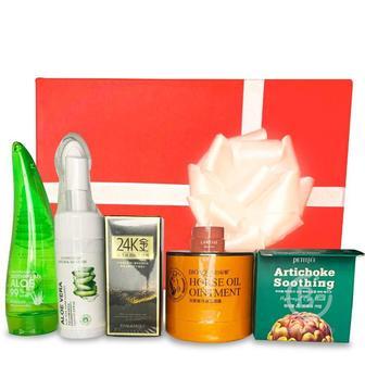 Подарочный набор косметики для лица и тела Asmetika Aloe & Artichoke