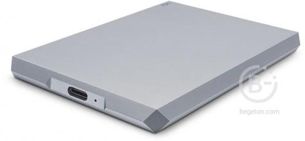 Внешний жесткий диск LaCie Mobile Drive USB-C, USB 3.0, 2TB STHG2000402 Space Gray