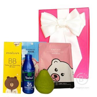 Подарочный набор косметики для макияжа  и ухода Asmetika Pear & coconut