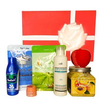 Подарочный набор косметики для волос и тела Asmetika Coconut & Apple