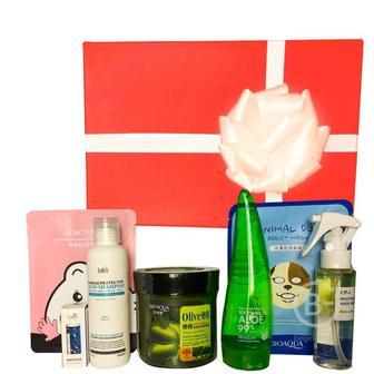 Подарочный набор косметики для волос и тела Asmetika Olive & Aloe