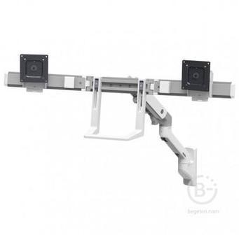 Настенный кронштейн для двух мониторов Ergotron HX Wall Dual Monitor Arm 45-479-216, белый