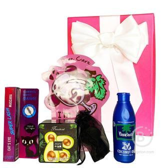 Подарочный набор косметики для макияжа Asmetika Coconut & avocado