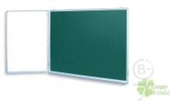 Доска магнитная комбинированная школьная двухэлементная BoardSYS (100x225 см)