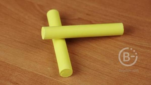 Мел школьный цветной, желтый (20шт) Cleay Chalk, чистые руки