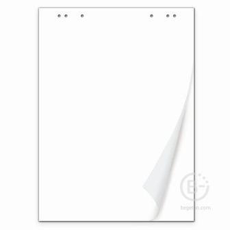 Блокнот для флипчарта BRAUBERG, 20 листов, чистые, 67,5х98 см, 80 г/м2